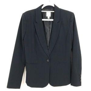 Halogen single button suit jacket blazer Navy Blue